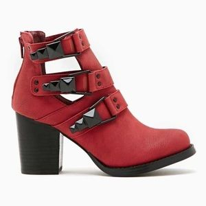Shoe Cult Moto Impact Red Boots 10